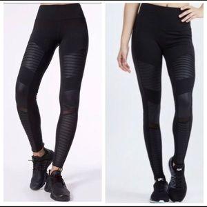 Women's Alo Goddess Moto Rare Leggings pants sm